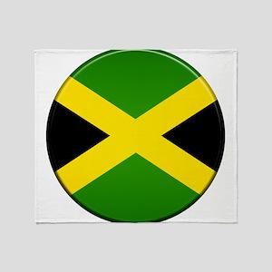Jamaican Button Throw Blanket