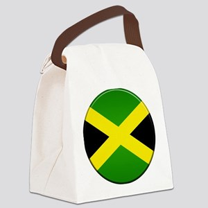 Jamaican Button Canvas Lunch Bag