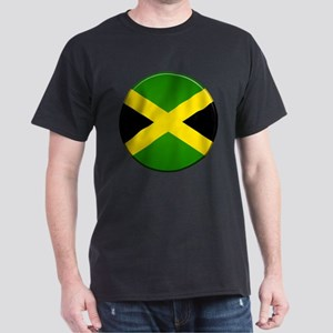 Jamaican Button Dark T-Shirt