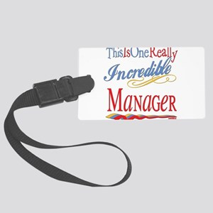 Incredible MANAGER Large Luggage Tag