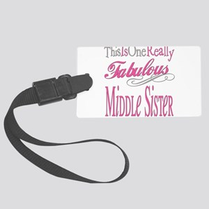 Fabulous MIDDLESISTER Large Luggage Tag