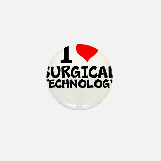 I Love Surgical Technology Mini Button