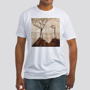 Egon Schiele Autumn Sun And Trees Fitted T-Shirt