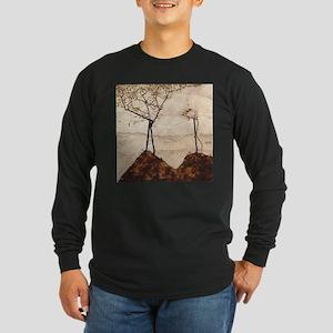 Egon Schiele Autumn Sun And Trees Long Sleeve Dark