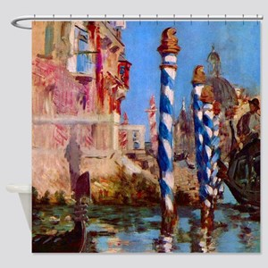 Manet Grand Canal in Venice Shower Curtain
