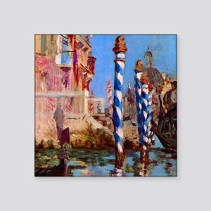 "Manet Grand Canal in Venice Square Sticker 3"" x 3"""