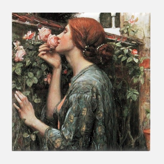 John William Waterhouse My Sweet Rose Tile Coaster