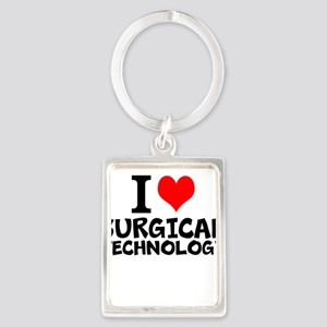 I Love Surgical Technology Keychains