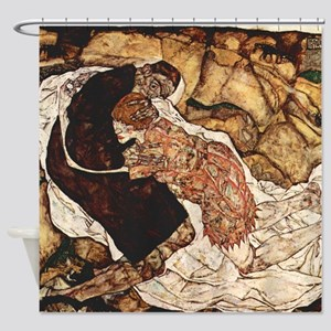 Egon Schiele Death And The Woman Shower Curtain