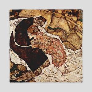 Egon Schiele Death And The Woman Queen Duvet