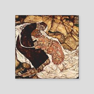 "Egon Schiele Death And The Woman Square Sticker 3"""