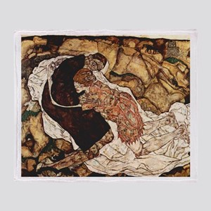 Egon Schiele Death And The Woman Throw Blanket