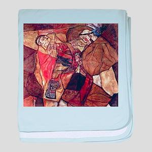 Egon Schiele Agony The Death Struggle baby blanket
