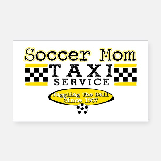 Soccer Mom Taxi Service Rectangle Car Magnet