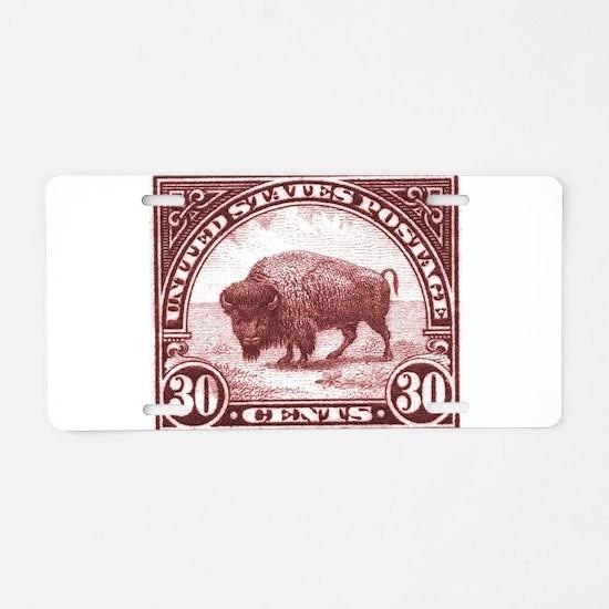 Cute Bison Aluminum License Plate