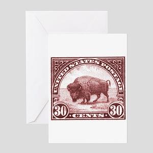 1923 American Buffalo Stamp Greeting Cards