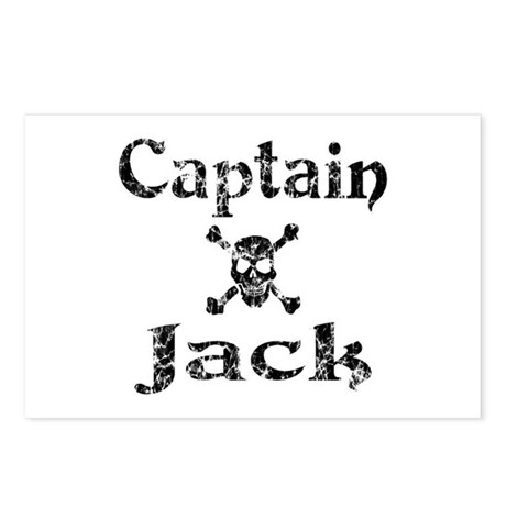 Captain Jack (distressed) Postcards (Package of 8)