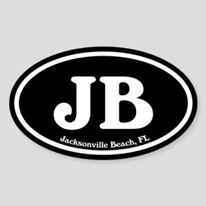 JB Jacksonville Beach Oval Sticker (Oval)