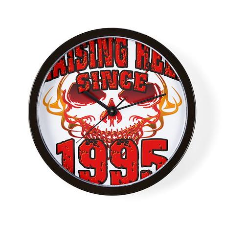 Raising Hell since 1995.png Wall Clock