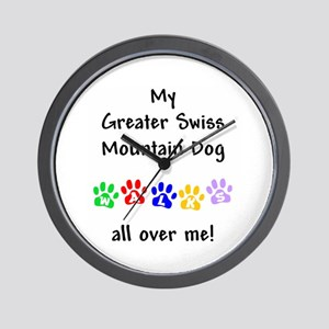 Swissy Walks Wall Clock