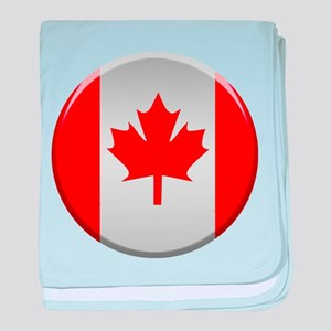 Canadian Button baby blanket