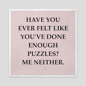 puzzles Queen Duvet