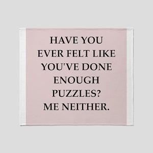 puzzles Throw Blanket