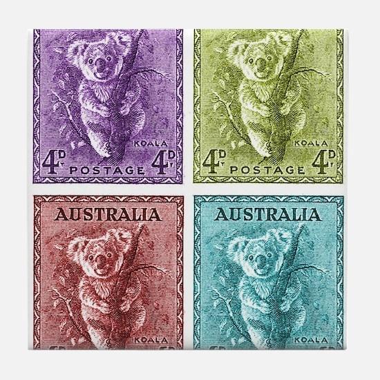 Cool Koala bears Tile Coaster