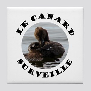French Duck is Watching Tile Coaster