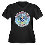 USS HAROLD E Women's Plus Size V-Neck Dark T-Shirt