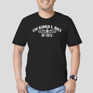 USS HAROLD E. HOLT Men's Fitted T-Shirt (dark)