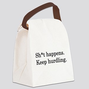Keep Hurdling Canvas Lunch Bag
