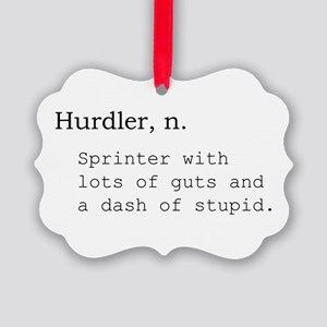 Hurdler Picture Ornament