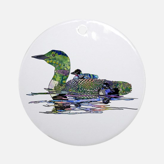 Colorful Loon Ornament (Round)