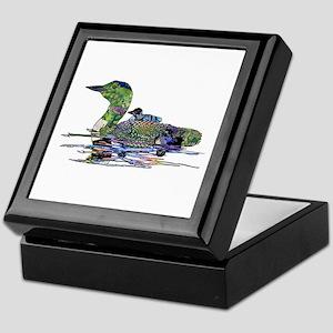 Colorful Loon Keepsake Box