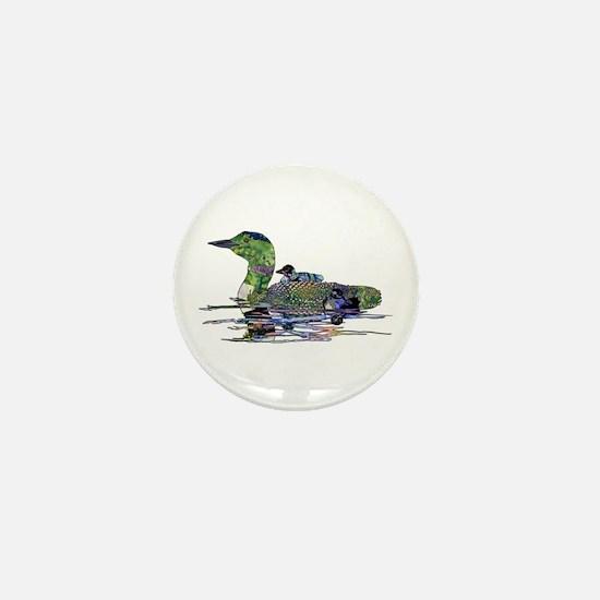 Colorful Loon Mini Button