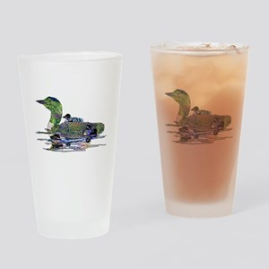 Colorful Loon Drinking Glass