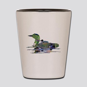 Colorful Loon Shot Glass