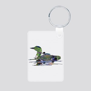Colorful Loon Aluminum Photo Keychain
