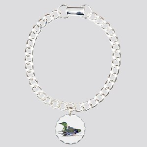 Colorful Loon Charm Bracelet, One Charm