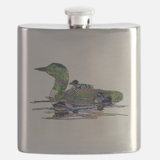Colorful Loon Flask