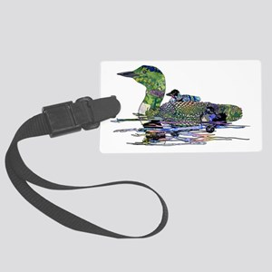 Colorful Loon Large Luggage Tag