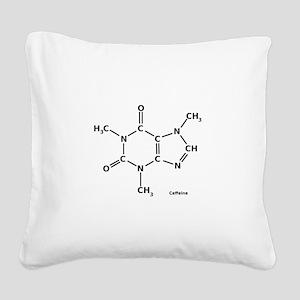 Caffeine Molecule Square Canvas Pillow