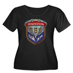 USS HEND Women's Plus Size Scoop Neck Dark T-Shirt