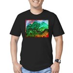 Green Mountains Men's Fitted T-Shirt (dark)