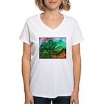 Green Mountains Women's V-Neck T-Shirt