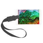 Green Mountains Large Luggage Tag