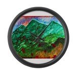 Green Mountains Large Wall Clock