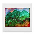 Green Mountains Tile Coaster