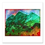 Green Mountains Square Car Magnet 3